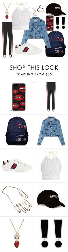 """Creation #135"" by katlaura ❤ liked on Polyvore featuring Zero Gravity, Gucci, Superdry, Être Cécile, RED Valentino, STELLA McCARTNEY, Balenciaga, Kate Spade and Monica Vinader"
