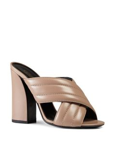 Gucci Sylvia Criss-Cross High Heel Sandals