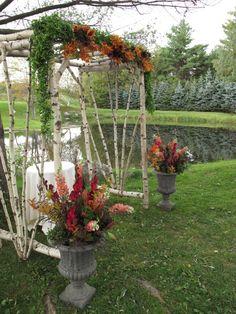 Fall Wedding Arch & Flowers