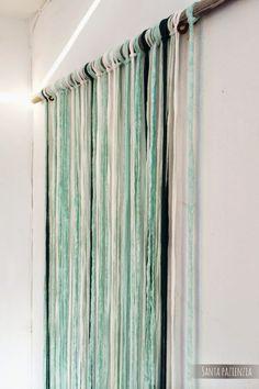 Santa Pazienzia: Decorar con Trapillo. Una cortina muy veraniega