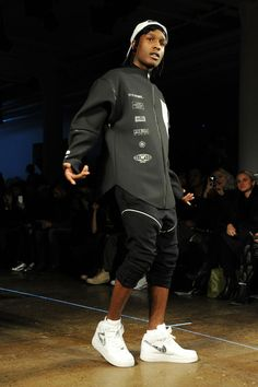 Hood By Air black and gray on A$AP Rocky