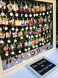 Love this! Seating chart with guests photos {find your face to find your place}