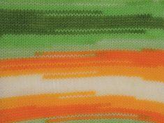 Dancing Baby Yellow White Orange Green - 100% premium acrylic, st 4 mm,  100 gram, 250 meter