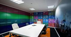 Meeting room into the premises of Amazon in Madrid, Spain