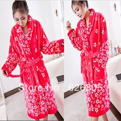 3721afaae6 Fashion Winter Flannel robe women bathrobes warm soft nightgown hooded  thickening plus size home casual Nightwear-in Robes from Underwear    Sleepwears on ...