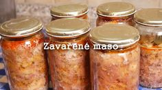 Zavařené maso - Nejen na horší časy Sweet Potato, Salsa, Jar, Vegetables, Youtube, Jelly, Canning, Salsa Music, Veggie Food