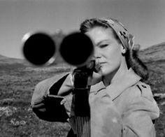 Vintage shot gun and woman