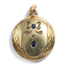 VICTORIAN um 1890: MEDAILLON, Foto Anhänger, 9 ct Gold Saphir & Diamanten Locket | eBay