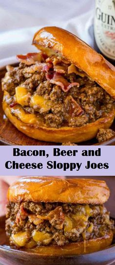 Bacon, Beer and Cheese Sloppy Joes #maindishes