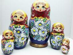 Russische Puppen Russische Matroschka Familie Frauen russische blumen