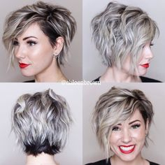 Short asymmetrical bob hairstyles for 201 . - Short asymmetrical bob hairstyles for 2018 - Prom Hairstyles For Short Hair, Short Hair Cuts, Hairstyles 2018, Short Hair With Undercut, Pixie Bob Hairstyles, Undercut Pixie, Short Undercut Hairstyles, Pixie Updo, Long Pixie Cuts