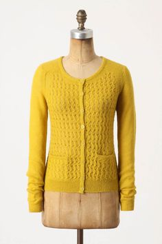 Love the mustard color on this anthro sweater! I believe I have some yarn in in this shade...hmmm...