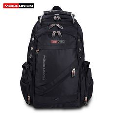 MAGIC UNION Brand Design Men's Travel Bag Man Backpack Polyester Bags Waterproof Shoulder Bags Computer Packsack Wholesale *** Offer can be found by clicking the image