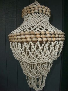 Vintage Cowrie Shell Swirl Chandelier From The