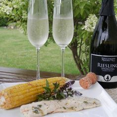 August 10, 2014 - Sprucewood Shores 2013 Riesling Sparkling with Grilled Haddock and BBQ Corn on Cob Summer essential! - See more at: http://www.essexcountywineries.ca/wines/2014/20140810.htm#sthash.OB5pJHiq.dpuf