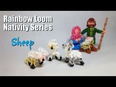 Rainbow Loom Nativity Series: Sheep