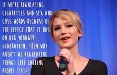 Jennifer Lawrence.   29 Celebrities Who Will Actually Make You Feel Good About Your Body