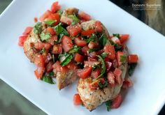 Skinny Bruschetta Chicken.  I'd drizzle balsamic reduction on top.  Yumm.