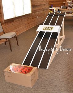 Lego Car Ramp Racetrack for Birthday Party