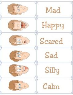 Free Printable Flashcards - Emotion Flash Cards