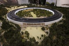 This room-sized mock-up of the planned new Apple headquarters in Cupertino was released in November last year before executives submitted th...