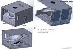Hi im looking for some mini scoop plans Edited by Diy Subwoofer, Subwoofer Box Design, Speaker Box Design, Audio Box, Home Audio Speakers, Diy Speakers, Horn Speakers, Rcf Audio, Woofer Speaker