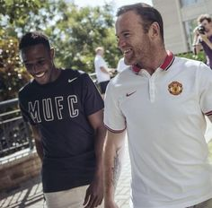 Wayne Rooney and Danny Welbeck Danny Welbeck, Manchester United Images, Wayne Rooney, Polo Shirt, Polo Ralph Lauren, The Unit, Football, Actors, Mens Tops