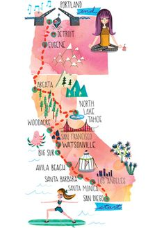 Nothing says summer like a road trip! Start at YJ LIVE! in sunny San Diego, then work your way up the West Coast for an ideal combination of oceanfront and Sierra mountain yoga.