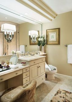 Good Double Sink Vanity With Dressing Table ~ Double Sink With Makeup Table Like  The Idea Of