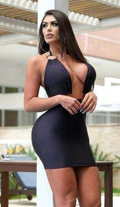 Chic Black Outfits, Sexy Outfits, Sexy Teens, Sexy Hot Girls, Tight Dresses, Sexy Dresses, Bikini Fashion, Girl Fashion, Trendy Fashion