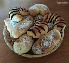 Makové rožky zo šľahačkového cesta (fotorecept) - recept | Varecha.sk Deserts, Bread, Food, Hampers, Desserts, Breads, Baking, Meals, Dessert