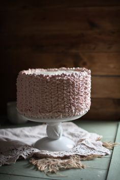 Raspberry Ombre Cake with Whipped Cream Cheese Frosting, Plus a Frosting Tutorial & a Cake-Making Kit Giveaway