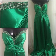 Beautiful Emerald Green Gown - $42.50CAD