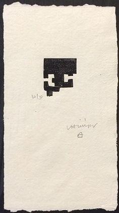"""Eduardo Chillida Grabado Xilográfico """"Goiti"""" (1983) 28 x 16 cm Enmarcado Van der Koelen 83015 Precio: 3.000€  Web: www.grabadosylitografias.com Más información y consultas: galeria@grabadosylitografias.com"""