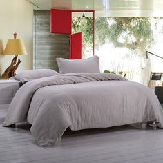 Cheap bedding set silk, Buy Quality bedding sets full size directly from China bedding pattern Suppliers: Stone Washed LINEN BEDDING SET Incluidng 1 duvet cover and 2 pillow case Simple Duvet Cover, Bedding Set, Solid Duvet, Home Decor, Bed, Linen Duvet Covers, Duvet Covers, Bed Linen Sets, Comforter Cover