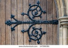 ornate large rod iron exterior door hinges Ornate Hinge Church