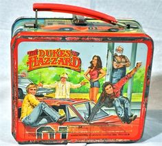 Dukes of Hazzard Metal Lunch Box with thermos
