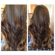 Brunette ombre with golden blonde highlights inspired by Victorias Secret hair, Lily Aldridge hair Jessica Alba hair Camila Alves hair using Balayage technique sombre soft ombre subtle ombre Carmel chocolate soft ombre sombre ecaille haircolor spring 2015 colormelt