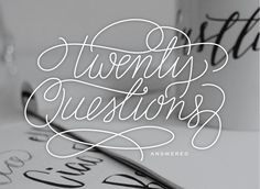 Twenty Questions Answered by Saffron Avenue (aka my graphic design & business inspiration). This girl is incredible!!