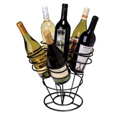 LOVE THIS!! to put in the middle of a table with all diff types of wines for everyone. Bottle Bouquet 6 Bottle Wine Rack