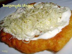 Burgonyás lángos - LAKOMA - SAJÁT KÉPEKKEL MINDEN RECEPT Hungarian Cuisine, Hungarian Recipes, Good Food, Yummy Food, Homemade Pasta, Ciabatta, Grubs, Minden, Hungary