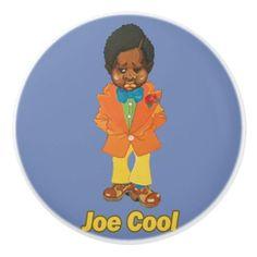 Joe Cool Ceramic Knob - toddler youngster infant child kid gift idea design diy