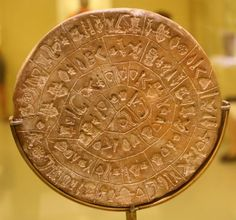 the Phaistos Disc—a disc of fired clay from the Minoan palace of Phaistos on Crete (Greece)—is considered one of the biggest mysteries in history. Experts have been trying to read the pictorial signs for over a century and even though many interpretations have been given, none are widely accepted in linguistic and archaeological circles.
