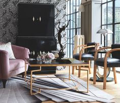 Indulge in the sleek opulence of Homes & Antiques' art deco special