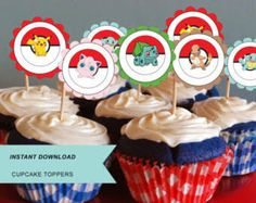 Image result for pokemon cupcake toppers