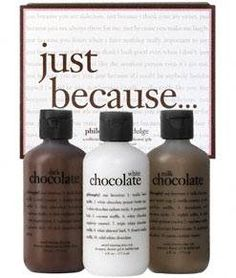 Philosophy: Chocolate scented lotion.