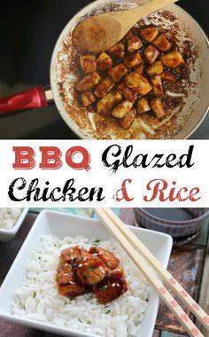Bbq Glazed Chicken Rice Bowl