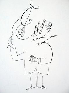 ¤  Saul Steinberg. Untitled, 1954. Ink on paper. Originally published in The New Yorker, July 10, 1954.