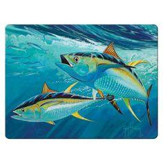 Fish Artwork, Yellowfin Tuna, Coastal Wall Art, Beautiful Fish, Tropical Art, Ocean Art, Ocean Life, Underwater Photography, Guys