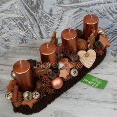 Christmas Centerpieces, Diy And Crafts, Xmas, Candles, Table Decorations, Home Decor, Flower Arrangements, Blue Prints, Crafts